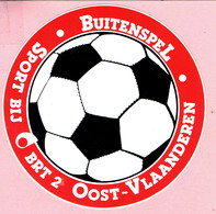 Sticker - Buitenspel - Sport Bij BRT 2 Oost-Vlaanderen - Autocollants