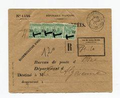 !!! PRIX FIXE : ALGERIE, LETTRE A EN-TETE VALEURS RECOUVREES, CACHET DE DUZERVILLE  DE 1927, TAXEE - Storia Postale