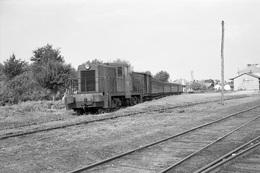 Arès. Economiques De Gironde. Locomotive General Electric D-4029. Cliché Jacques Bazin. 30-08-1958 - Trains
