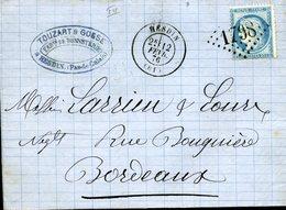 HESDIN Type 17 12 FEV 76 + GC 1798 Sur Timbre N°60 Type 1 25c Cérès TTB - Marcophilie (Lettres)