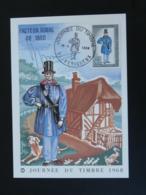Carte Maximum Card Facteur Rural (signée Par ??) Journée Du Timbre Périgueux 24 Dordogne 1968 - Cartes-Maximum