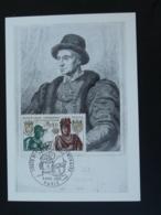 Carte Maximum Card Roi King Louis XI Moyen Age Middle Age Medieval Paris 1969 - Familles Royales