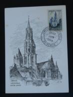 Carte Maximum Card Cathedrale De Senlis Oblit Jumelage Langenfeld 60 Oise 1969 - Kirchen U. Kathedralen