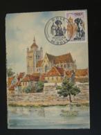 Carte Maximum Card Cathedrale Dole 39 Jura 1971 - Kirchen U. Kathedralen