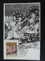 Carte Maximum Card Cheval Horse Moyen Age Medieval History Hongrie Hungary 1971 - Pferde