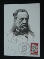 Carte Commemorative Card Louis Pasteur Journée Du Timbre Dole 39 Jura 1974 - Louis Pasteur