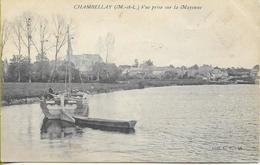 CHAMBELLAY Vue Prise De La Mayenne (péniche à Voile) - Francia