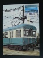 Carte Maximum Card Inauguration RER Chatelet Les Halles Metro Subway Paris 1977 - Trains