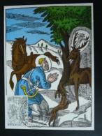 Carte Maximum Card Hubert D'Aquitaine Chasse Hunting Medieval Belgique 1977 - Wild