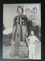 Carte Maximum Card Géant De Carnaval Wetteren Belgique 1978 - Carnaval