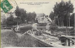 Environs De SAUMUR  St HILAIRE ST FLORENT Le Passage De L'Ecluse (péniche) - Saumur