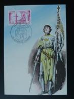 Carte Maximum Card 550è Anniversaire Jeanne D'Arc Moyen Age Medieval Chateau Thierry 02 Aisne 1979 - Maximumkarten