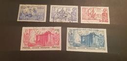 Guyane Yvert 149-151+155-156° - Französisch-Guayana (1886-1949)