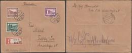 Germany - Einschreiben Brief (MiNr. 637, 638, 642 MiF) Berlin 1.12.1936 - Freiburg. - Lettres & Documents