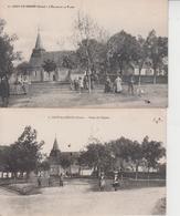 18 UZAY LE VENON  -  Place De L'Eglise  -  2 CARTES  - - Autres Communes
