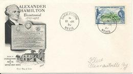 St. Christopher - Nevis - Anguilla FDC 11-1-1957 Alexander Hamilton - St.Christopher-Nevis & Anguilla (...-1980)
