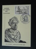 Carte Maximum Card Sculpture Félix Auvray Journée Du Timbre 1983 Valenciennes 59 Nord - Journée Du Timbre