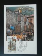 Carte Maximum Card Festa Dei Ceri Italie 1983 - Fêtes
