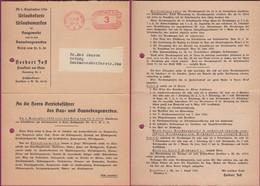 Germany - Urlaubskarte Urlaubsmarken. Freistempel, Frankfurt 14.6.1936 - Coburg. - Germany