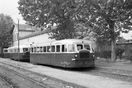Béziers-Nord. Economiques De L'Hérault. Autorails SCF-Verney Série ZZCC 1002 à 1005. Cliché Jacques Bazin. 30-06-1953 - Eisenbahnen