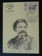 Carte Maximum Card Sculpteur Ernest Hiolle Journée Du Timbre 1986 Valenciennes 59 Nord - Sculpture