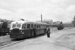 Saint-Chinian. Economiques De L'Hérault. Autorail SCF-Verney Série ZZCC 1002 à 1005. Cliché Jacques Bazin. 30-06-1953 - Eisenbahnen