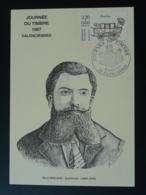 Carte Maximum Card Architecte René Mirland Journée Du Timbre 1987 Valenciennes 59 Nord (ex 1) - Architecture