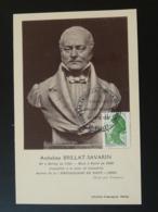 Carte Commemorative Card Gastronomie Brillat Savarin 01 Belley Ain - Alimentazione