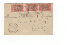 Lettre Cameroun  Cachet Nkongsamba 1936 + 3 Timbres , Pour Paris - Cameroun (1915-1959)