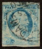 NTH SC #1 U 1852 KingWilliam III Light Impression 4-margins CV $35.00 - Period 1852-1890 (Willem III)