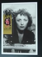 Carte Maximum Card Musique Music Edith Piaf Paris 1990 - Chanteurs