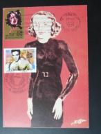 Carte Maximum Card Musique Music Edith Piaf Flamme Concordante Hericourt 70 Haute Saone 1990 - Chanteurs