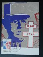 Carte Maximum Card Appel Du 18 Juin De Gaulle 1990 - De Gaulle (Général)