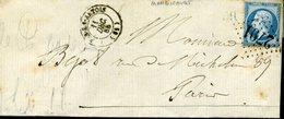 PAS EN ARTOIS Type 15 11 DEC 65 + GC 2791 Sur N° 22 20c Empire Dentelé + OR Origine Rurale De Mondicourt - Marcophilie (Lettres)