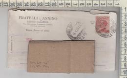 STORIA POSTALE 1926 REGGIO CALABRIA FRATELLI ZONNINO  MELITO DI PORTO SALVO ANNULLO FRAZIONATO - 1900-44 Vittorio Emanuele III