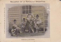 PC Indios De La Patagonia - Recuerdo De La Republica Argentina - Ca. 1900 (46512) - Amerika