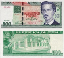 CUBA 500 Pesos, 2019, P-NEW, Commemorative Banknote 500th Anniversary Of Founding Of Havanna UNC - Cuba