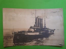 Cartolina - Marina R. Nave Vittorio Emanuele - 1916 - Militari