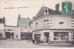 CPA  Mondoubleau (41) La Place Du Marché Boulangerie Patisserie Blanchelande  éditeur BN  Animée - Autres Communes