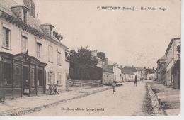 CPA Flixecourt - Rue Victor Hugo (avec Animation Devant Pharmacie) - Flixecourt