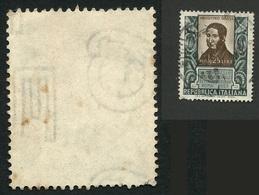 ITALIA 1953 6° CONGRESSO MICROBIOLOGIA USATO FILIGRANA LETTERE E 10/10 - Variedades Y Curiosidades
