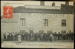 70 CPA PORT SUR SAONE USINE TRAYVOU 1908 - Francia