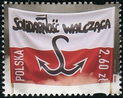 Poland 2017 The Fighting Solidarity White And Red Flag Anchor MNH** - Ongebruikt