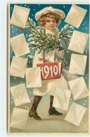 N°14131 - Carte Gaufrée - 1910 - Enfant Sous La Neige - Anno Nuovo