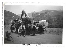 Moto 1938 Vianden Photo 6x9 - Anonymous Persons