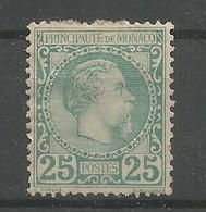 Monaco Yvert 6 Prince Charles III MH / * 1885 Cote: 1.020,00€ - Monaco