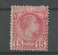 Monaco Yvert 5 Prince Charles III MH / * 1885 Cote: 510,00€ - Neufs