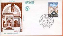 """Maroc; FDC 1970, TP N°600 """" FES,couverture De L'oued Boukhrareb """"Morocco;Marruecos - Maroc (1956-...)"""