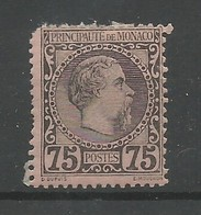 Monaco Yvert 8 Prince Charles III MH / * 1885 Cote: 420,00€ (un Coin Rond, Dent Courte) - Monaco