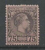 Monaco Yvert 8 Prince Charles III MH / * 1885 Cote: 420,00€ - Monaco